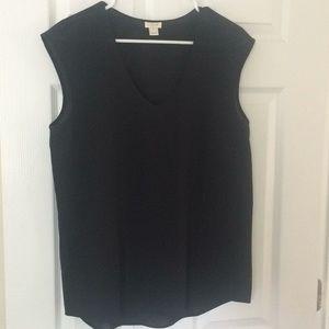 J. Crew black shell blouse size 10
